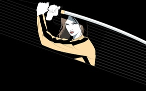 movies, Uma Thurman, Craig Drake, fan art, katana, Kill Bill