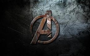The Avengers, grunge, logo