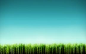 digital art, grass