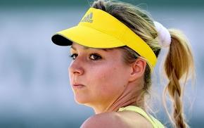 pigtails, Maria Kirilenko, girl, tennis, face, blonde