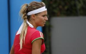 girl, blonde, pigtails, hair band, tennis, Maria Kirilenko