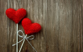 Valentines Day, wooden surface, wood, heart, crochet