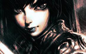 cartoon, artwork, Ilya Kuvshinov, digital art, face, anime girls