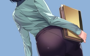 suits, anime, glasses, anime girls, pantyhose