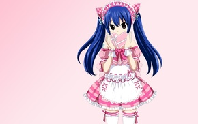 waitress, anime, Fairy Tail, anime girls, Marvell Wendy