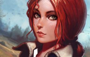The Witcher, Ilya Kuvshinov, The Witcher 3 Wild Hunt, video games, Triss Merigold, artwork
