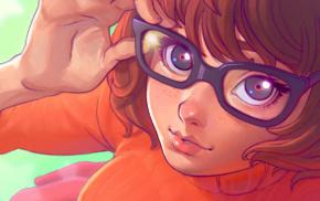 Ilya Kuvshinov, Velma Dinkley, Scooby, Doo, drawing, glasses
