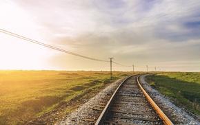 landscape, railway