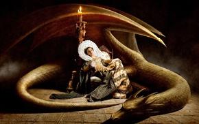 artwork, fantasy art, dragon