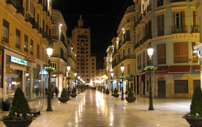 Europe, evening, street