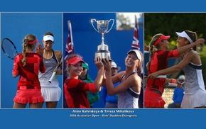 Tereza Mihalikova, Anna Kalinskaya, collage, tennis