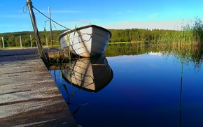 boat, summer, Sweeden