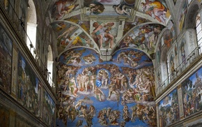 classic art, murales, interior, cathedral