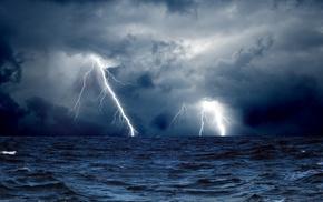 storm, sea, sky