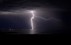 lightning, dark, storm