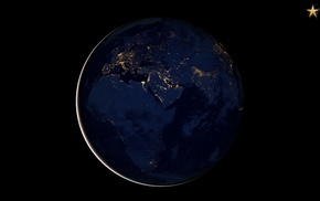 space art, render, Earth