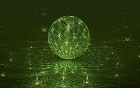 sphere, digital art, abstract