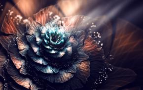 3D, fractal, digital art, fractal flowers, abstract