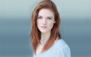 eyes, redhead, model, girl, Rose Leslie