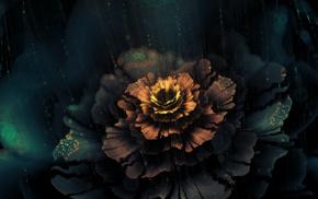 fractal flowers, fractal, rain
