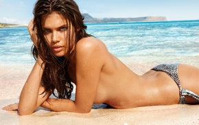 model, girl, bikini, strategic covering, Sara Sampaio, ass