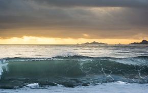 Corsica, sea, sunset