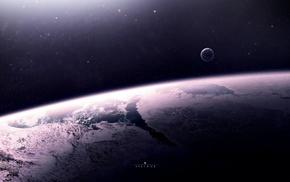 space art, space, stars, artwork, digital art, ice
