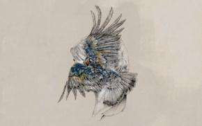 artwork, wings, Tut Tut Child, feathers, Monstercat