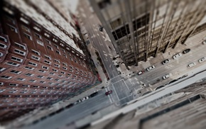 heights, street, city, aerial view, building, car