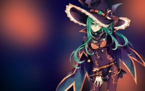 Date A Live, green hair, witch, anime, Natsumi Date A Live, anime girls