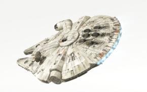 Han Solo, Star Wars, spaceship, Star Wars Battlefront, Millennium Falcon