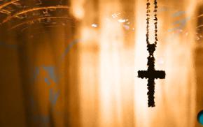 wood, angel, orange, cross, Jesus Christ