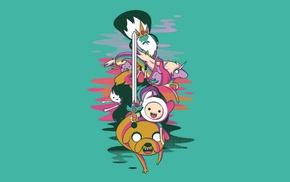 Marceline the vampire queen, Jake the Dog, Lady Rainicorn, cartoon, Ice King, Finn the Human