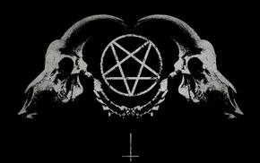 Satan, pentagram, demon, skull