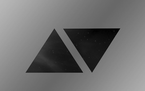 dark, triangle, minimalism