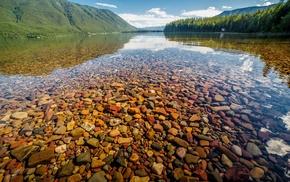 lake, landscape, nature, Glacier National Park