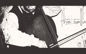 Aerosol Productions, album covers, cello, the cellist, monochrome, Kaptan H. Davran