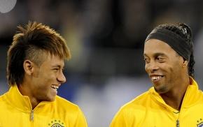 Ronaldinho, Neymar, soccer, Brasil, footballers