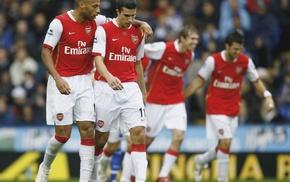 footballers, Cesc Fabregas, soccer, Arsenal, Thierry Henry, Robin van Persie