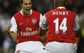 Thierry Henry, Robin van Persie, footballers, Arsenal, soccer