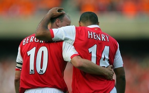 Arsenal, soccer, Thierry Henry, footballers, Dennis Bergkamp