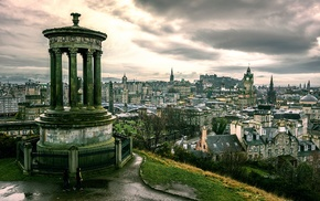 column, cityscape, Edinburgh, city, architecture, UK