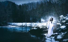 fantasy art, girl outdoors, girl