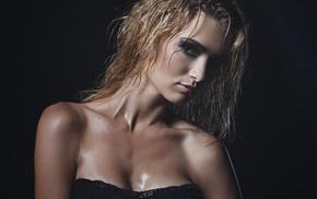wet, Julia Sariy, makeup, eyes, model, face
