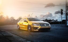 car, passat, tuning, Volkswagen, Volkswagen Passat, gold
