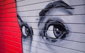 eyes, graffiti, wall