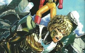manga, Saitama, Genos, One, Punch Man