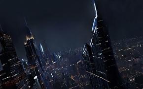 city, artwork, night