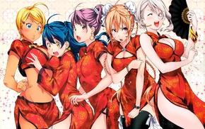 Tadokoro Megumi, Nakiri Alice, Chinese dress, Nakiri Erina, anime, Arato Hisako