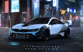 artwork, BMW i8, tuning, Khyzyl Saleem